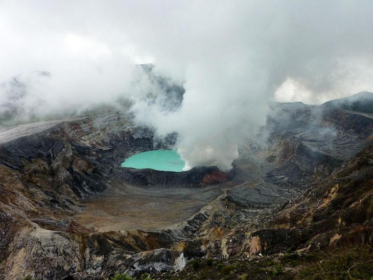 Kratersee Vulkan Poás - Urlaub Costa Rica